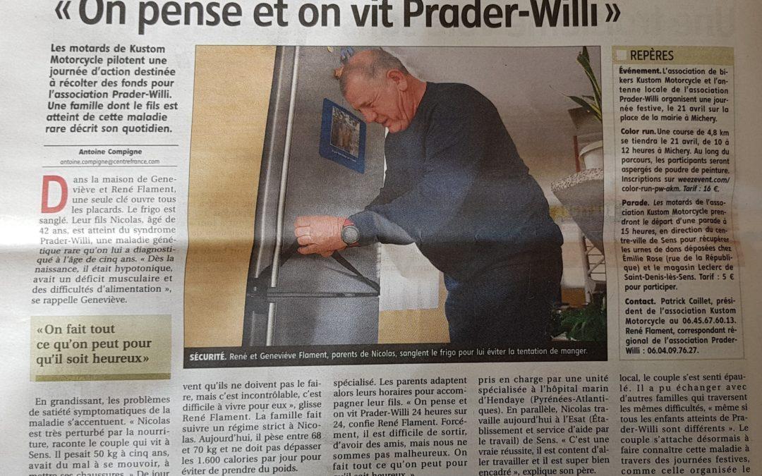 La presse de l'Yonne relaie le témoignage de Geneviève et René Flament
