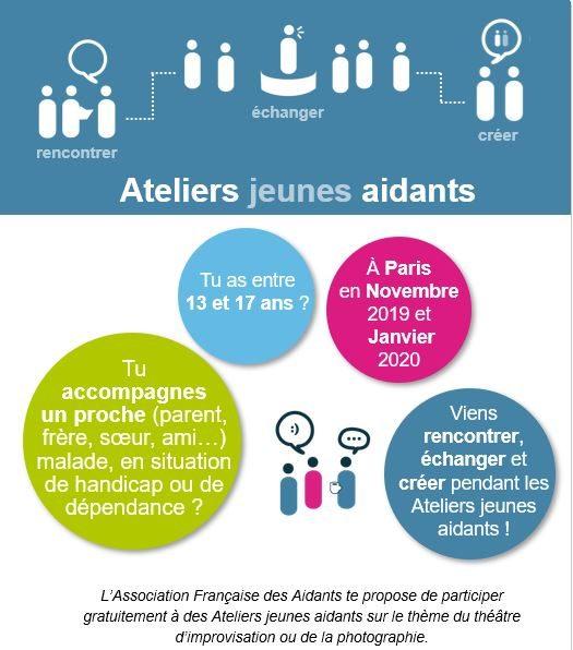Ateliers fratrie / jeunes aidants (13-17ans) à Paris