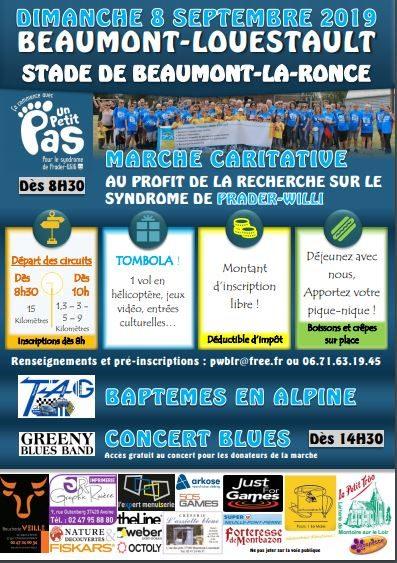 Marche de rentrée le 8 sept 2019 à Beaumont-la-ronce (37)