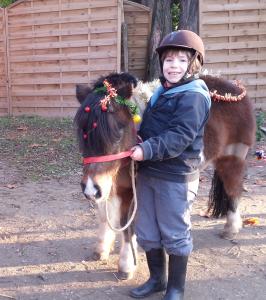 Emil avec le poney