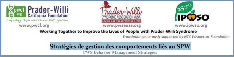 Stratégies de gestion des comportements liés au syndrome de Prader-Willi