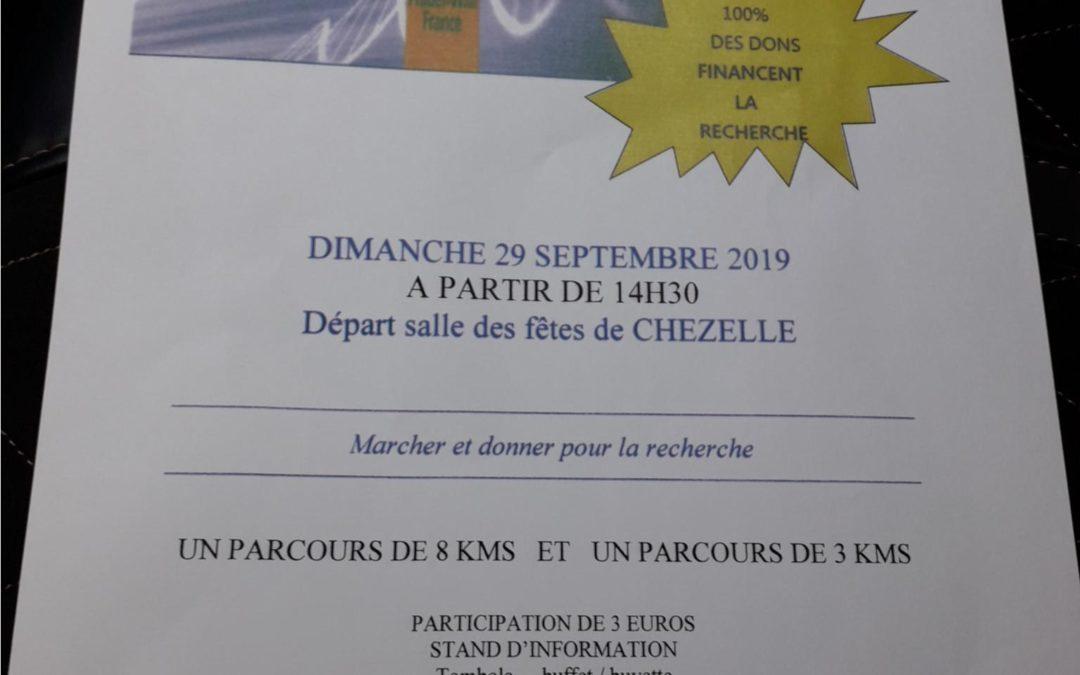 Marche UPP en Allier (Chezelle 03140) le 29 septembre