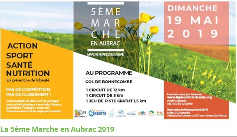 5eme marche santé en Aubrac le 19 mai 2019