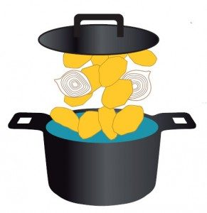 Recette de pommes de terre à l'étouffée