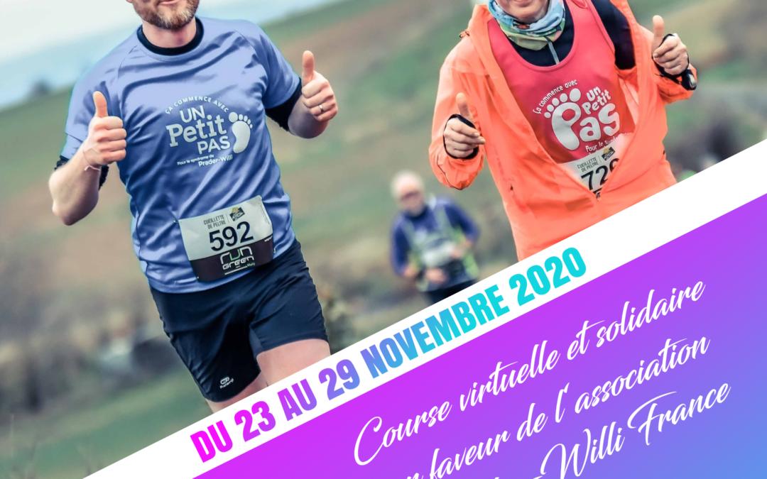 Course/marche solidaire de CALENRUN pour Prader-Willi France  du 23 au 29 novembre 2020